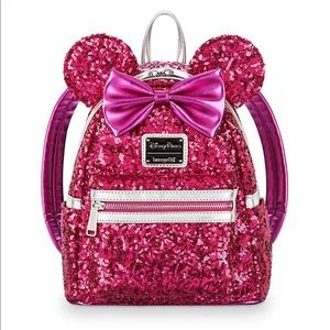 Sequin Mini Loungefly Imagination Pink